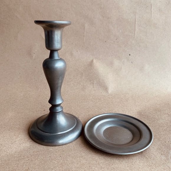 Vintage Daalderop Royal Holland Pewter Candlestick